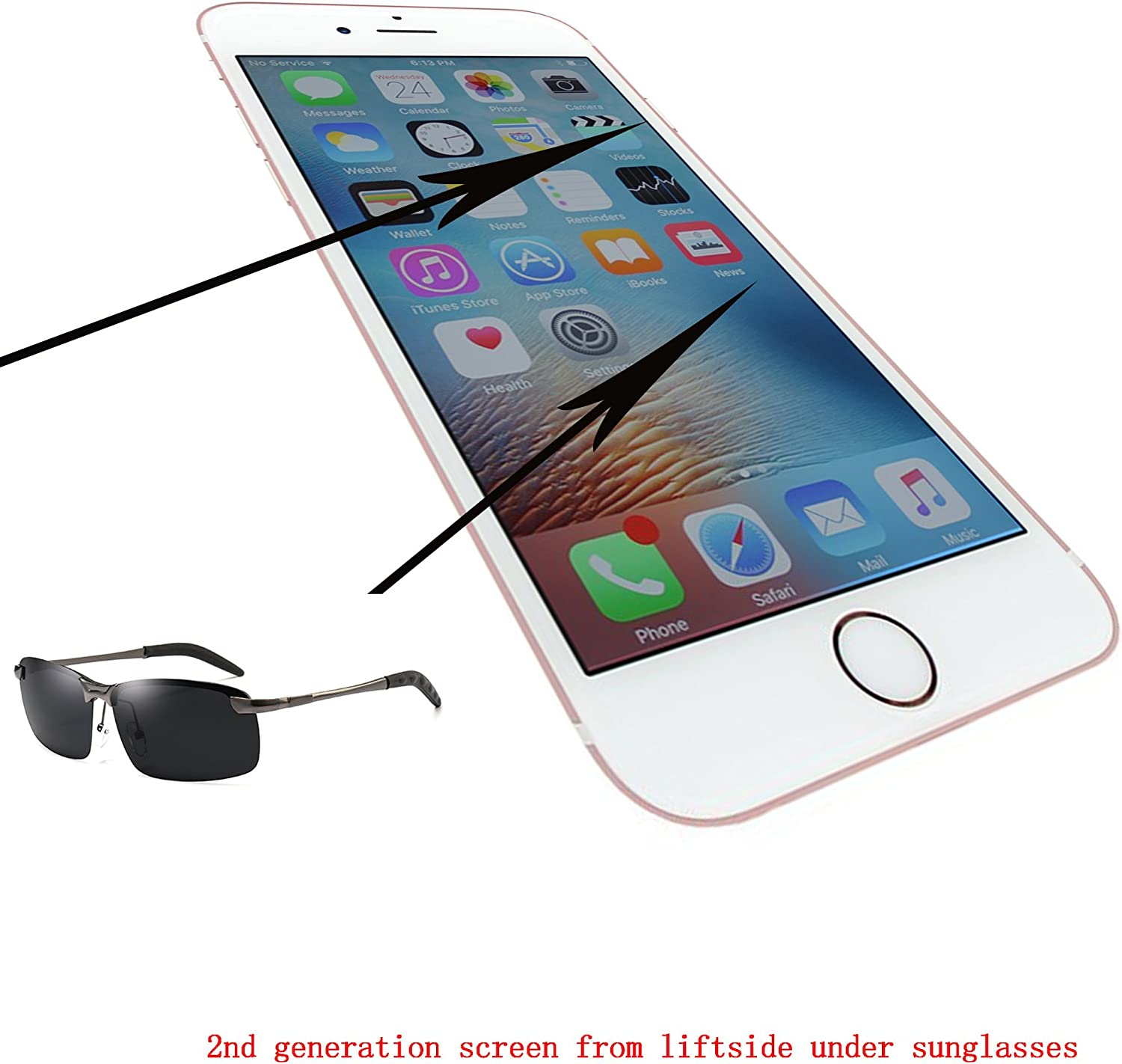 passionTR White for iPhone 6 4.7 Inch LCD Screen Replacement 360 Degrees All Angles Under Sunglasses 2nd Generation Digitizer Frame Assembly Full Set Touch Screen Display