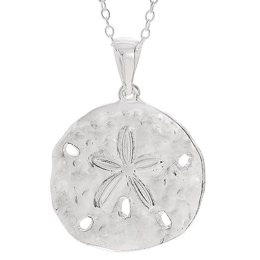 Amazon brinley co sterling silver sand dollar pendant necklace brinley co sterling silver sand dollar pendant necklace aloadofball Image collections