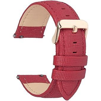 Amazon.com: 6 colores para correa de reloj de piel de ...