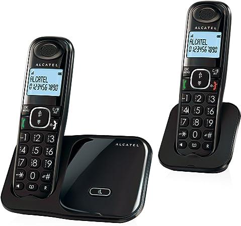 Alcatel XL280 Duo DECT Identificador de Llamadas Negro: Alcatel: Amazon.es: Electrónica