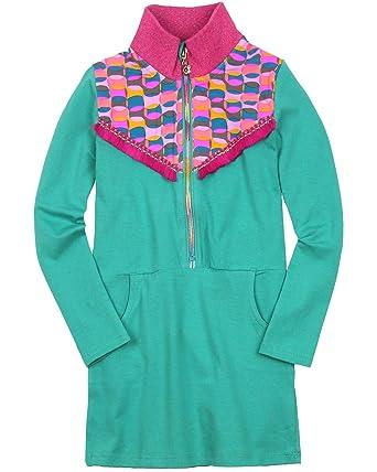 f4a1ede4cccb8f Amazon.com: Kidz Art Girl's Jersey Dress with Zip Placket, Sizes 3 ...