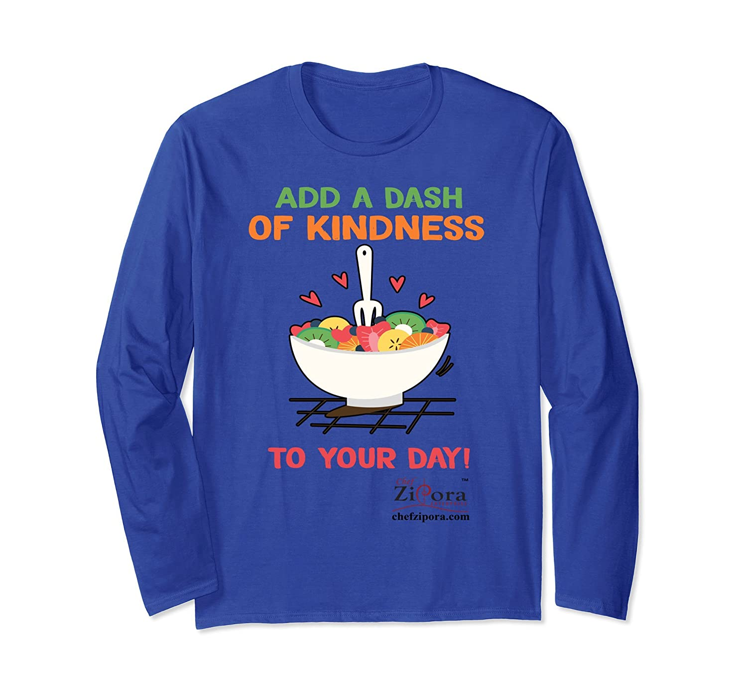 Add a Dash of Kindness to Your Day Long Sleeve Tshirt-alottee gift