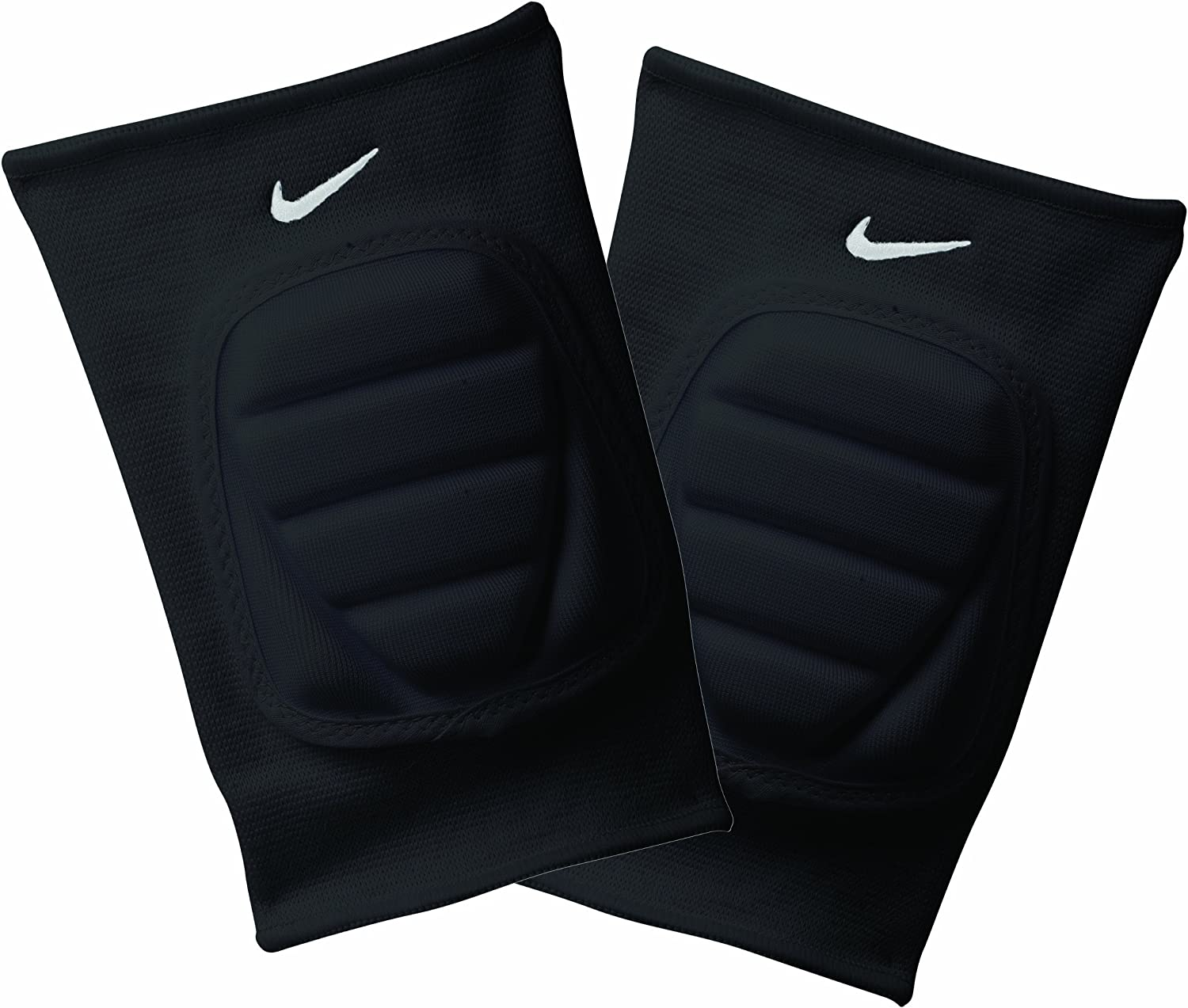 Amazon Com Nike Bubble Knee Pads Black Grey White X Small Small Volleyball Knee Pads Sports Outdoors