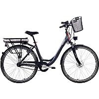 Telefunken E-Bike Elektrofahrrad Alu, mit 7-Gang Shimano Nabenschaltung, Pedelec Citybike leicht mit Fahrradkorb, 250W und 13Ah, 36V Lithium-Ionen-Akku, Reifengröße: 28 Zoll, RC657 Multitalent