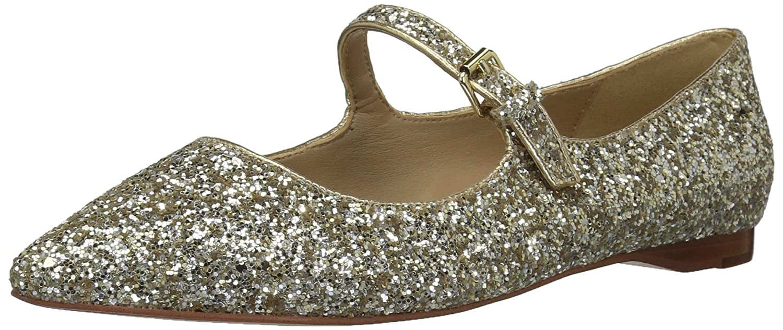 The Fix Women's Estrella Mary Jane Glitter Ballet Pointed Toe Flat B06XH86QX5 7.5 B(M) US|Champagne