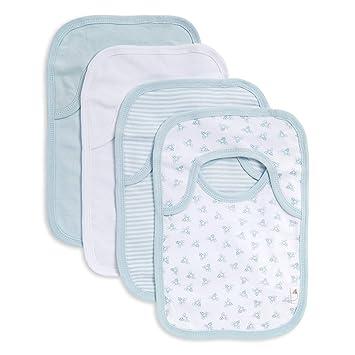 d787133e3 Amazon.com: Burt's Bees Baby - Bibs, 4-Pack Lap-Shoulder Drool ...