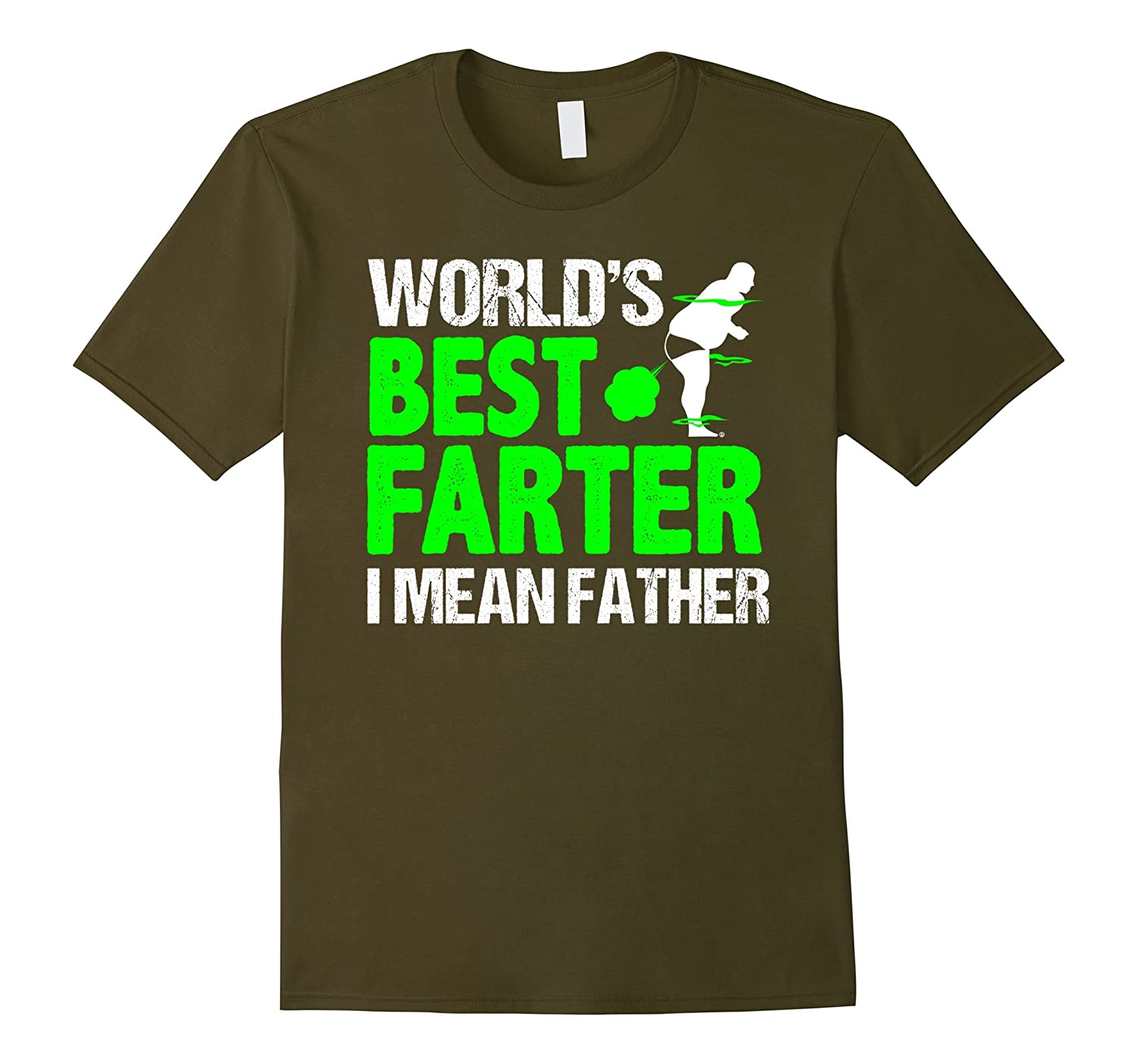 Mens World's Best Farter I Mean Father Funny Birthday Gifts Shirt-Teevkd