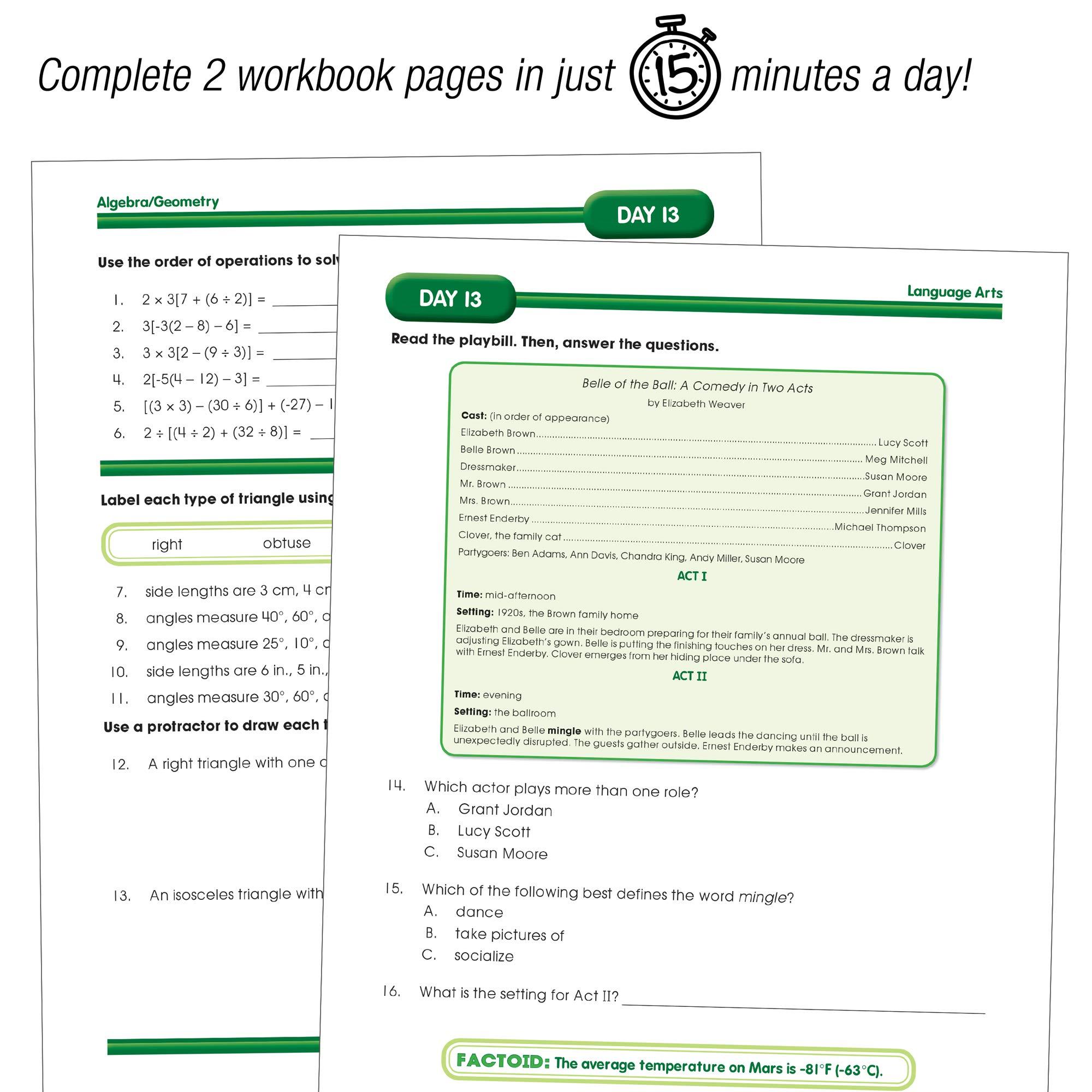Summer Bridge Activities - Grades 7 - 8, Workbook for Summer