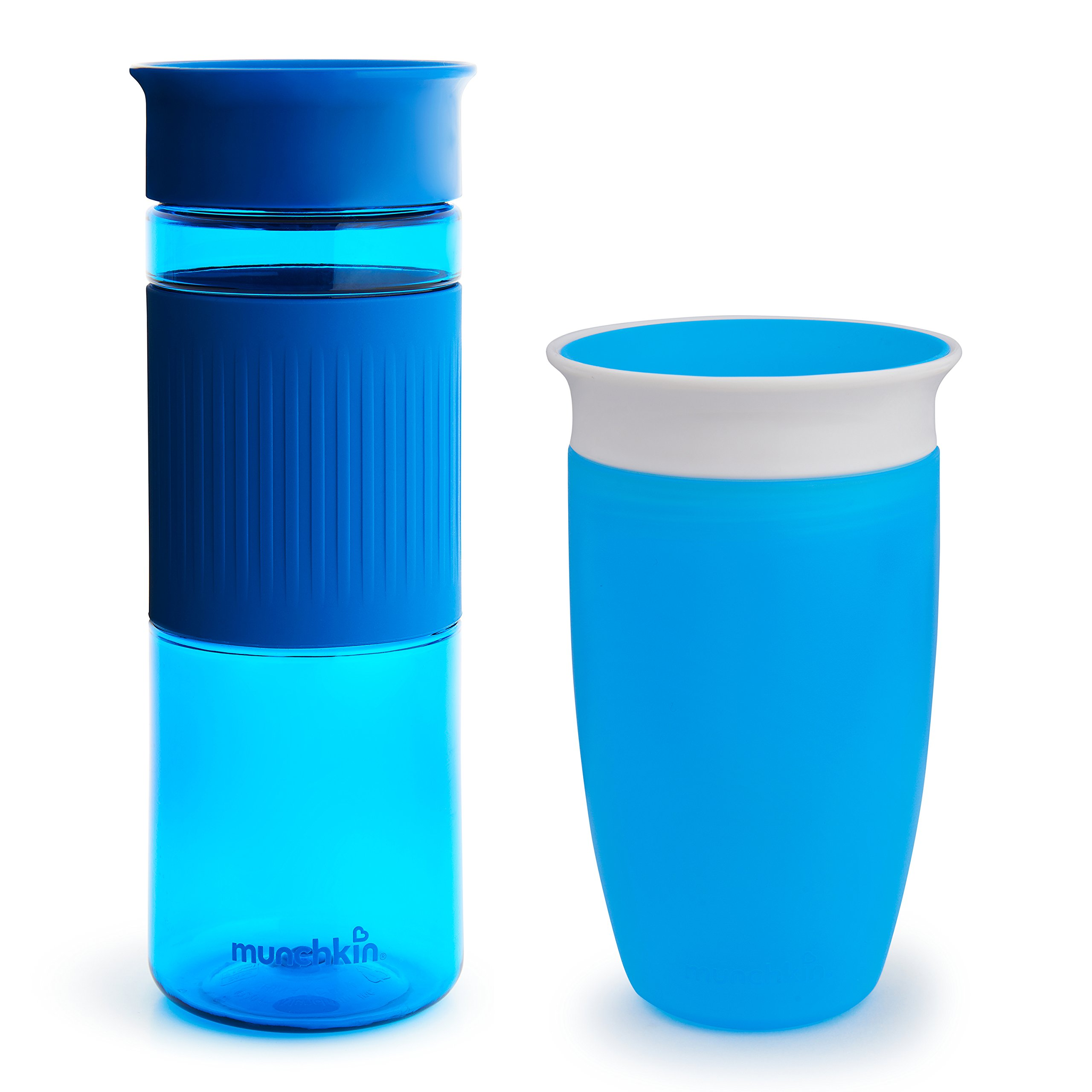 Munchkin Miracle 360 Cup Parent and Kid Set, 24 and 10 Ounce, Blue, Set of 2,Combo Pack by Munchkin