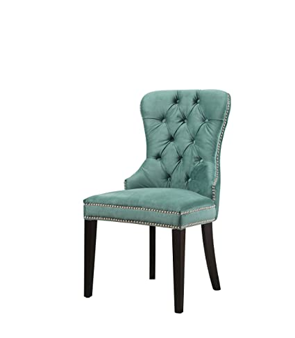 Abbyson® Dubois Tufted Velvet Dining Chair, Emerald Green