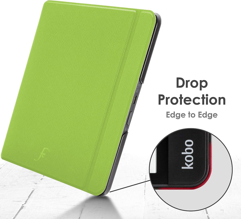Forefront Cases Cover for Kobo Forma Case Magnetic Protective Case Cover for Kobo Forma 2018 Smart Auto Sleep Wake Slim Lightweight Royal Blue Shell Design