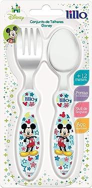 Conjunto Talheres Disney Mickey, Lillo do Brasil, Branco