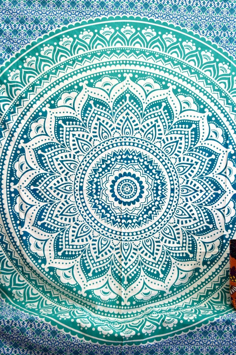 Popular Handicrafts Round Roundie Indian Mandala Round Roundie Beach Throw Picnic Tapestry Hippy Boho Gypsy Cotton Table Cover Beach Tapestry , Round 70'' by Popular Handicrafts