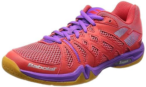 Babolat - Zapatillas de Bádminton para Mujer Rosa Rosa/Lila: Amazon.es: Zapatos y complementos