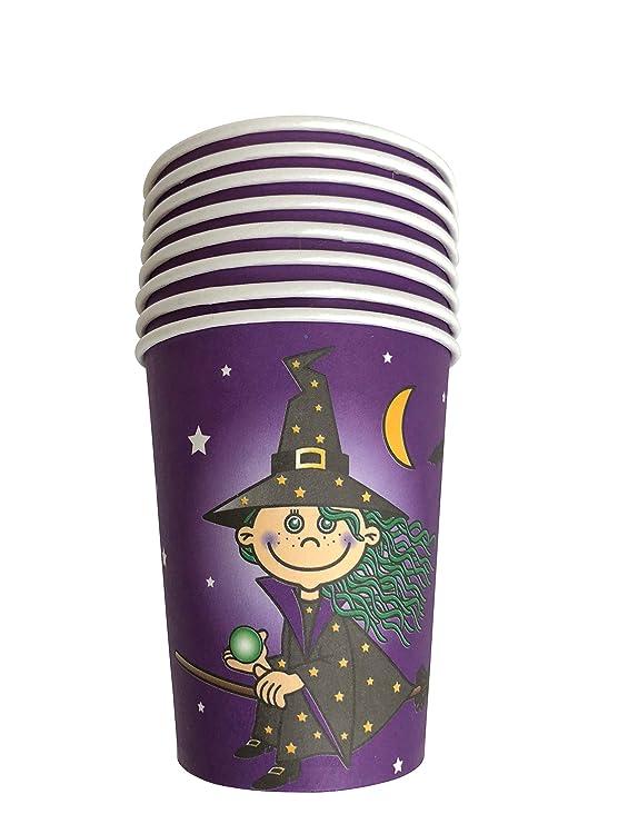 8 vasos * Kleine Bruja * para fiestas y cumpleaños ...