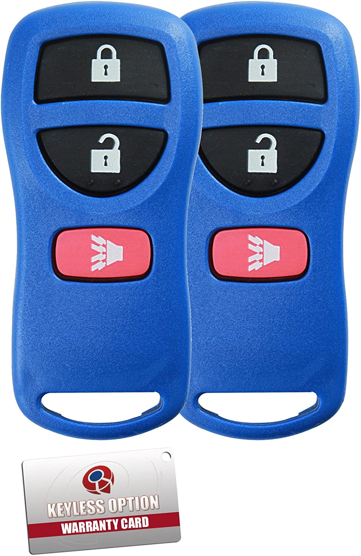 KeylessOption Keyless Entry Remote Control Car Key Fob Replacement for KBRASTU15 CWTWB1U733-Red Pack of 2
