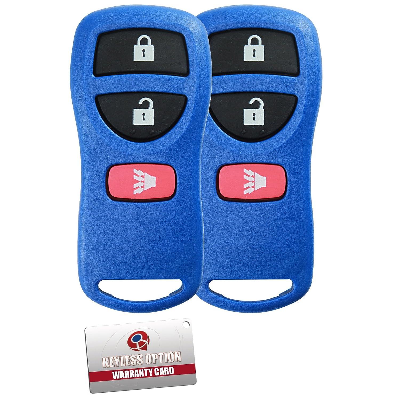 CWTWB1U733-Red KeylessOption Keyless Entry Remote Control Car Key Fob Replacement for KBRASTU15 Pack of 2