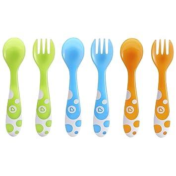 Tenedores y Cucharas Raise Munchkin pack de 4 azul//verde