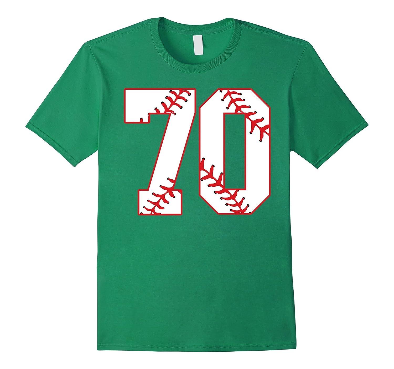 Seventieth Birthday Party 70th Baseball T-Shirt Born 1947-Vaci