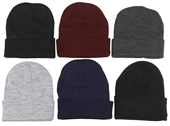 5054b648bcb7b ToBeInStyle Men s Pack of 6 Soft Stretchy Beanies (One Size ...