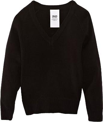 BLACK winter top unisex Banner V Neck Knitted School Jumper