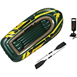 Intex Seahawk 3 Boat Set - three man inflatable dinghy with oars and pump #68380
