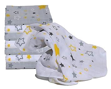 Clevere Kids Mulltücher 8er Set Sterne Aquila-Pictor navy-aqua 80x80 Spucktuch