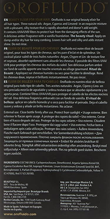 Revlon Orofluido Original Elixir Tratamiento Capilar - 100 ml