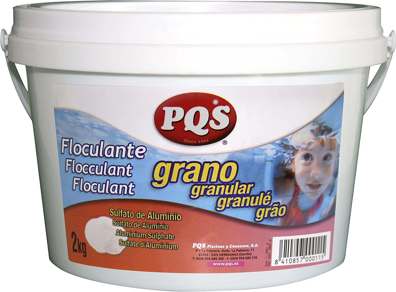 PQS Floculante/Clarificador en Grano Piscinas. Bote 2 kg: Amazon ...