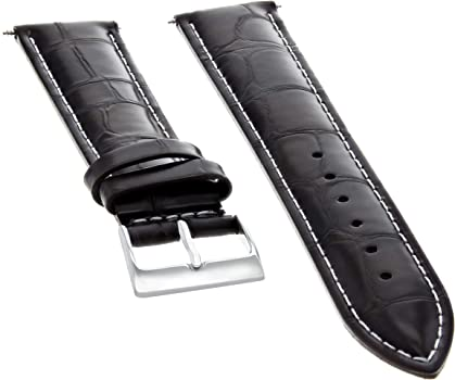 BREITLING BUCKLE /& 18mm BROWN GENUINE LEATHER MB STRAP WHITE STITCHING PADDED