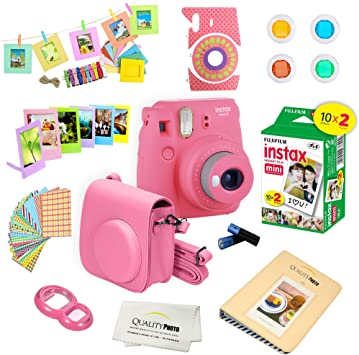 Fujifilm Instax Mini 9 Instant Camera W Fujifilm Instax Mini 9 Instant Films 20 Pack A14 Pc Deluxe Bundle For Fujifilm Instax Mini 9 Camera Flamingo Pink Camera Photo