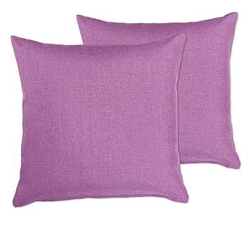 Lot de 2 taies d\'oreiller, couleur au choix, tissu déperlant de 40 x ...