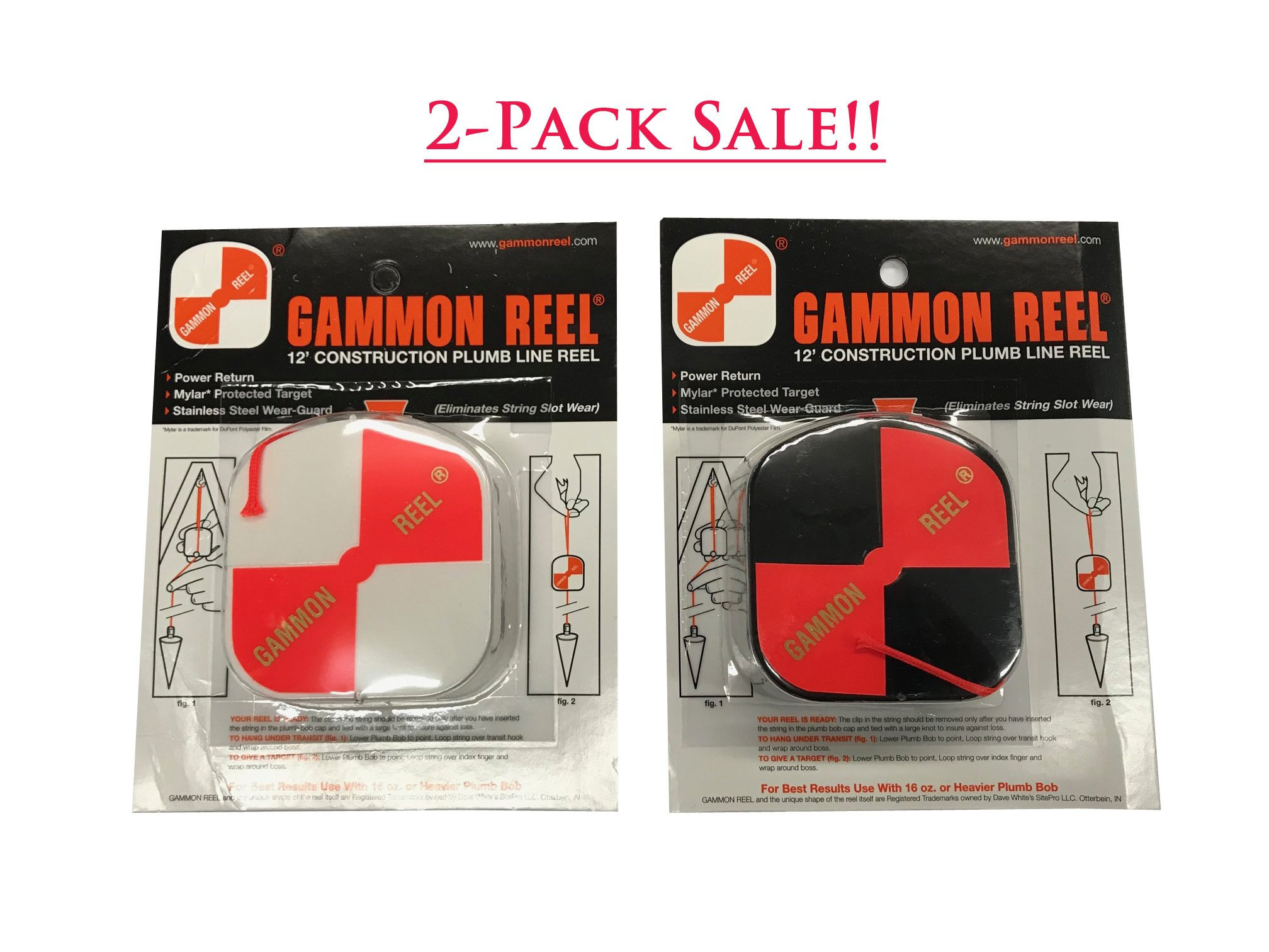 Gammon Reel 11-7289 Combo Gammon Reel Set (2 Pcs/Set)