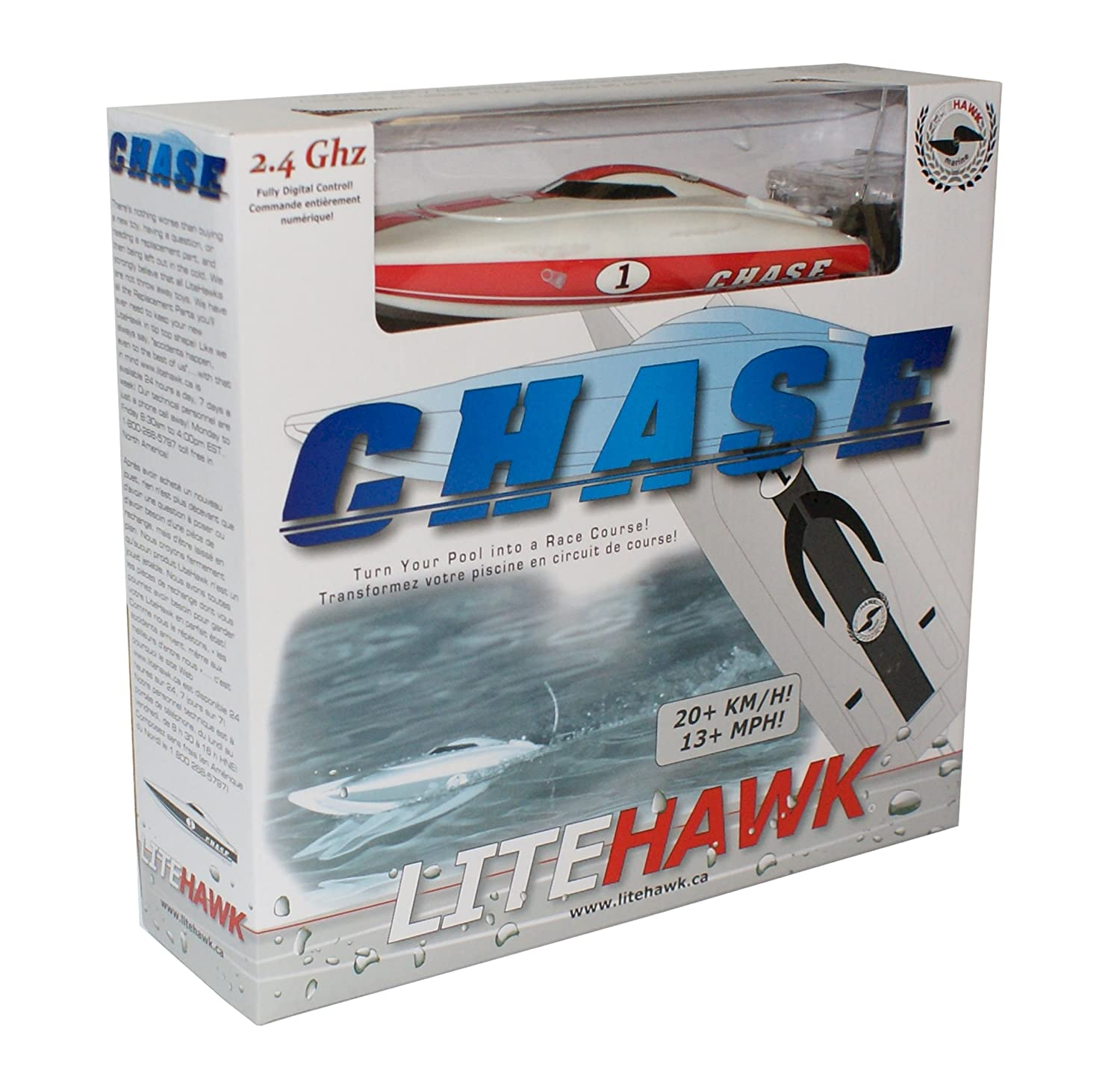 rc boat litehawk chase 9 high performance 2 4ghz racing boat