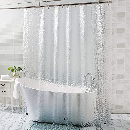 Amazon OTraki Long Shower Curtain Liner 72 X 96 Inch 3D Clear