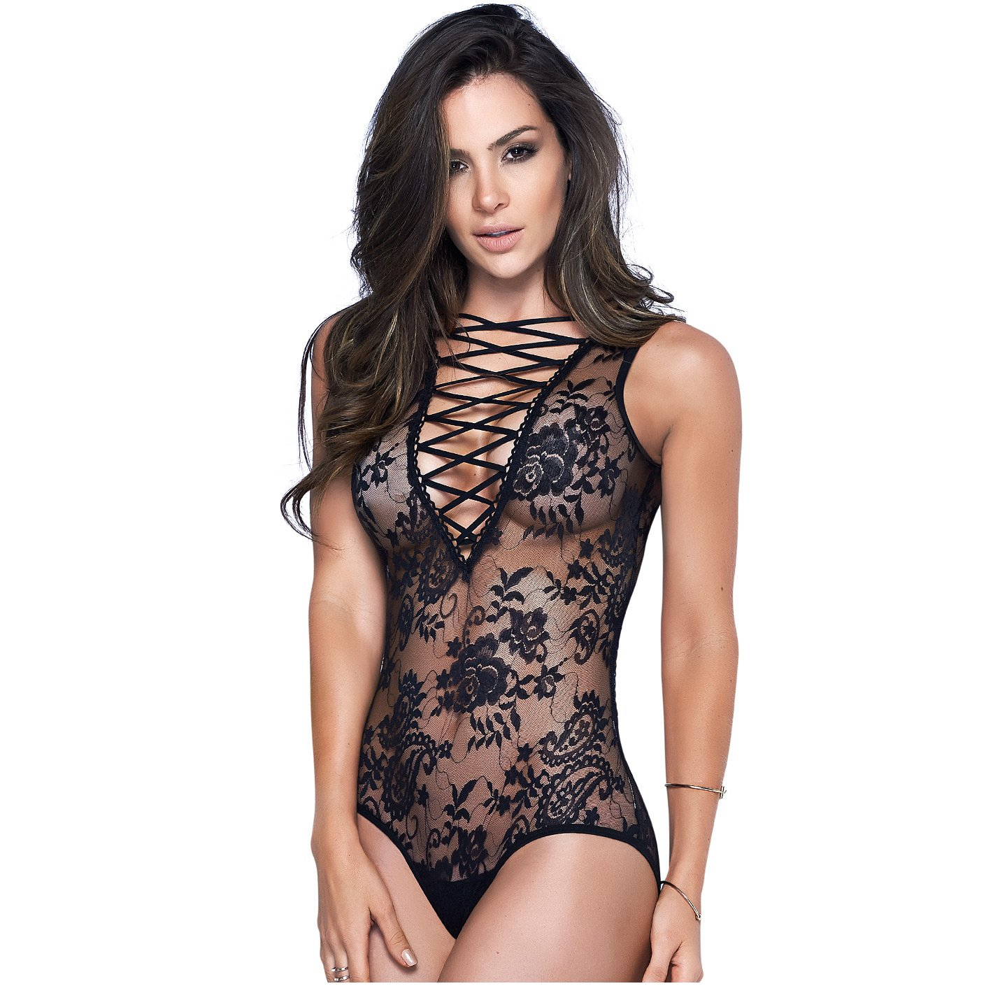 Mapalé Sexy Lingerie Strappy Lace up Teddy Bodysuit Women Ropa Interior Femenina at Amazon Womens Clothing store: