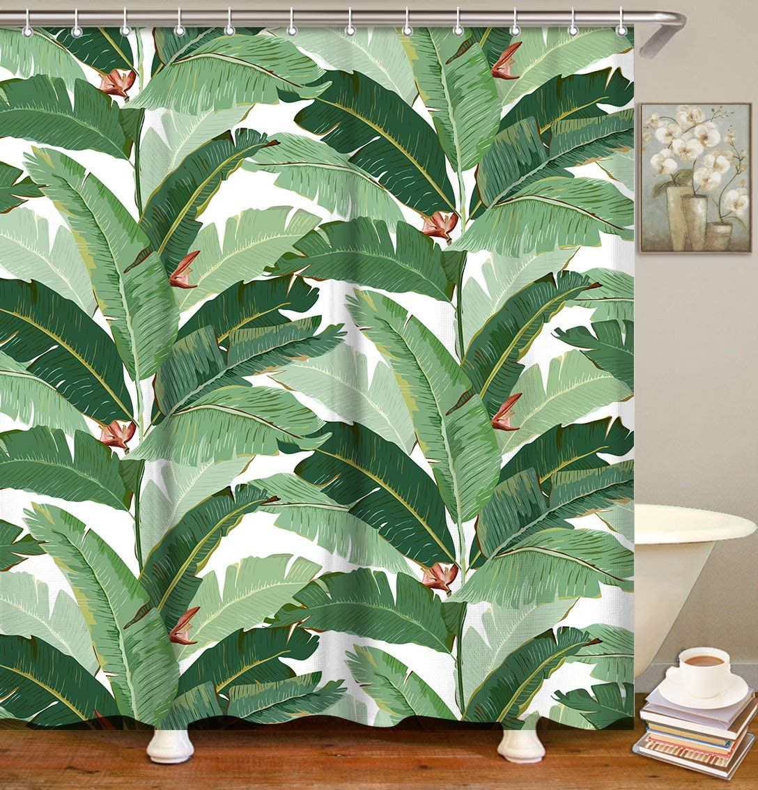 Amazon Com Livilan Tropical Shower Curtain Green Banana Leaf Fabric Bathroom Curtains Set With Hooks Summer Palm Leaves Bathroom Decor 72x72 Inches Machine Washable Home Kitchen Sign up for uo rewards and get 10% off your next purchase. livilan tropical shower curtain green banana leaf fabric bathroom curtains set with hooks summer palm leaves bathroom decor 72x72 inches machine