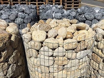 Canto RODADO TRAVERTINO Amarillo.Tamaños(100-150 a 150-300mm).Paletizada en jaulas de 1450 KG Aprox.Cada Jaula Cubre Aprox: 0, 85m3.Precio/Jaula.Entrega a pie de Calle.: Amazon.es: Jardín