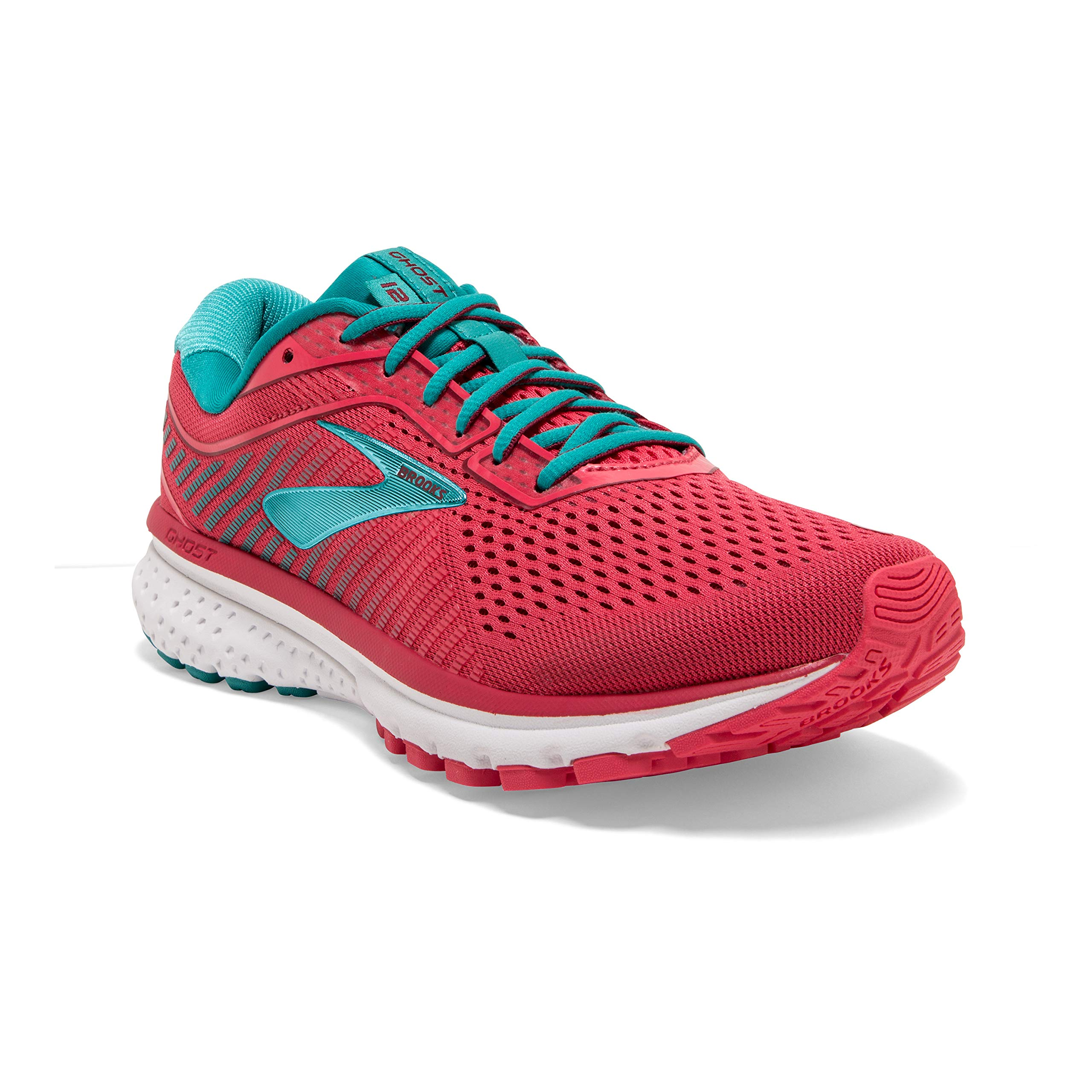 Brooks Womens Ghost 12 Running Shoe - Teaberry/Rumba/Viridian - B - 8.5 by Brooks