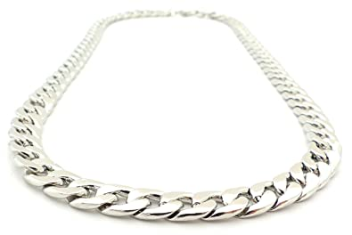 Silber kette  Hip Hop Gangster Silberkette für Herren und Damen SilverOne 9mm ...