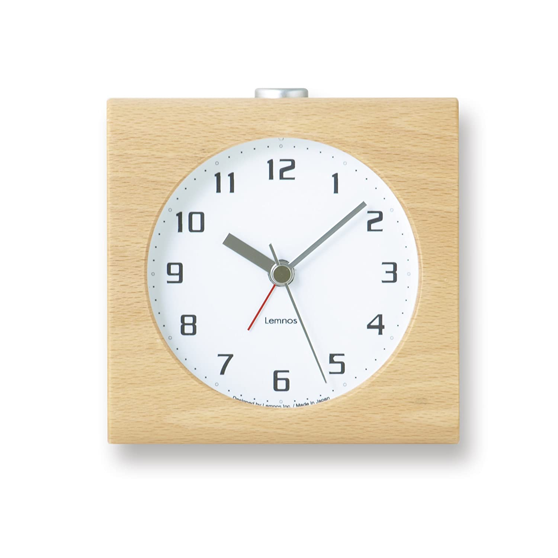 Lemnos Block アラーム時計 ホワイト PA08-30 WH B002BIIM90ホワイト