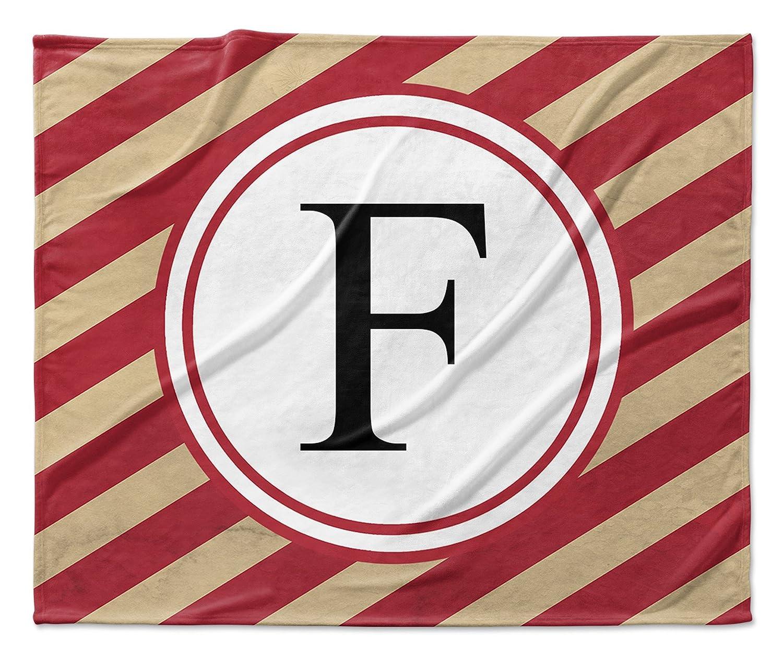 KAVKA Designs F Fleece Blanket, TELAVC1176SUB9 - Red//Ivory Size: 90x90x1 -