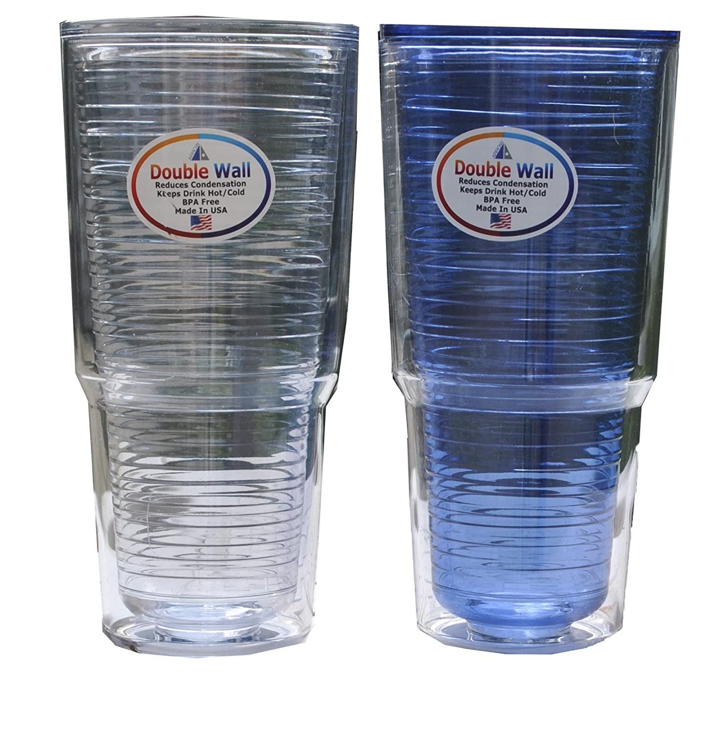 Assorted Arrow Home Products 00218 Double Wall Tumbler 24 oz