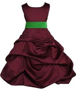 235feefccd ekidsbridal Pick-up Satin Burgundy Flower Girl Dresses Christmas Dresses  Formal Dresses Bridesmaid Dresses 806s