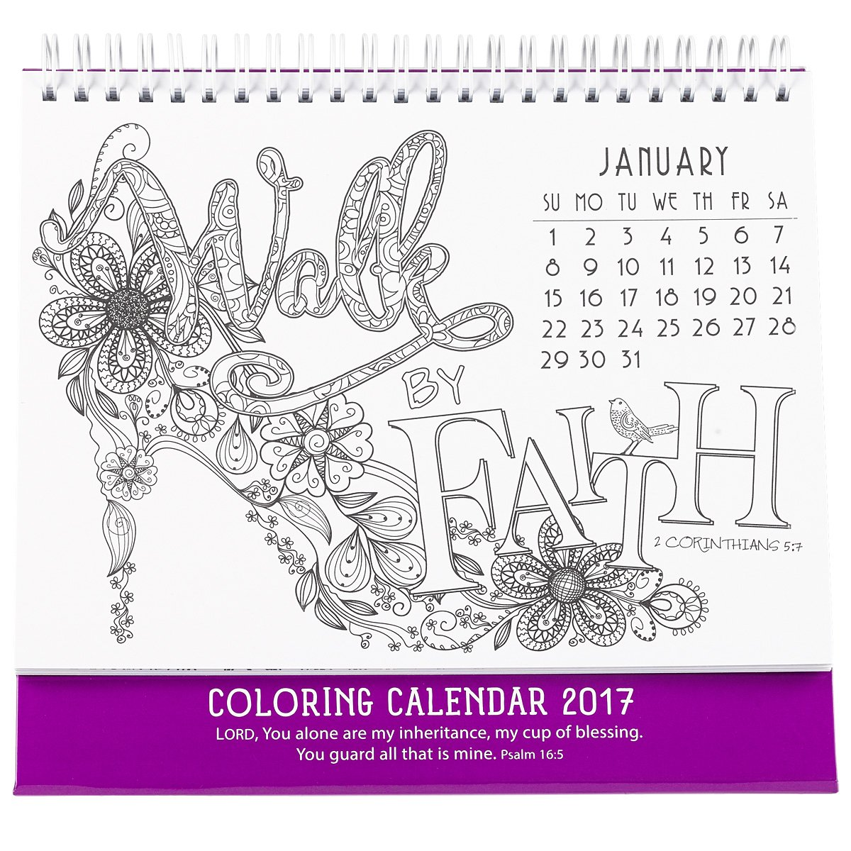 amazoncom 2017 coloring calendar a cup of blessings for every day psalm 165 9781432115760 christian art gifts corporate author books