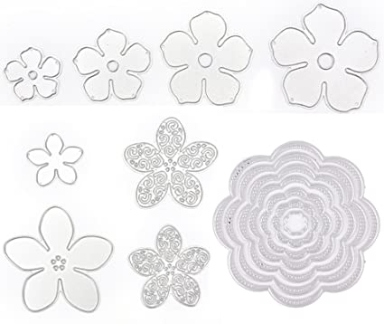 amazon com 15 pieces flower die cuts for card making buytra metal