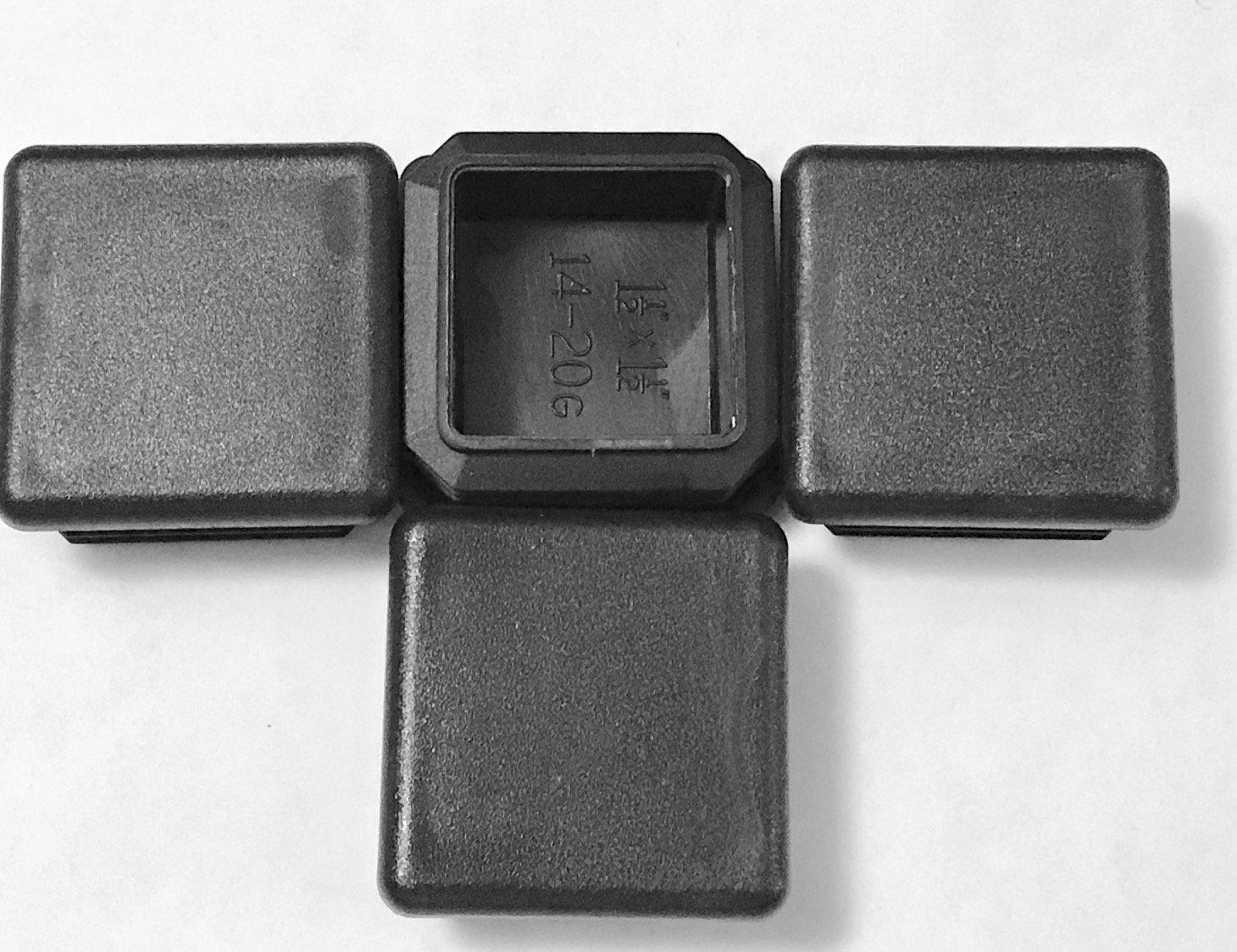 "Plastic Insert Plug Caps the open end of 2/"" x 4/"" Rectangular Tube 14-20 ga wall"