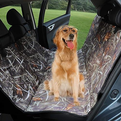 KIMHY Camo Dog Car Back Seat Cover