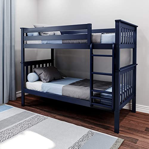 Max Lily Solid Wood Twin Bunk Bed