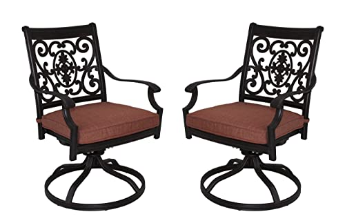 Darlee St. Cruz Cast Aluminum Swivel Rocker Dining Chair
